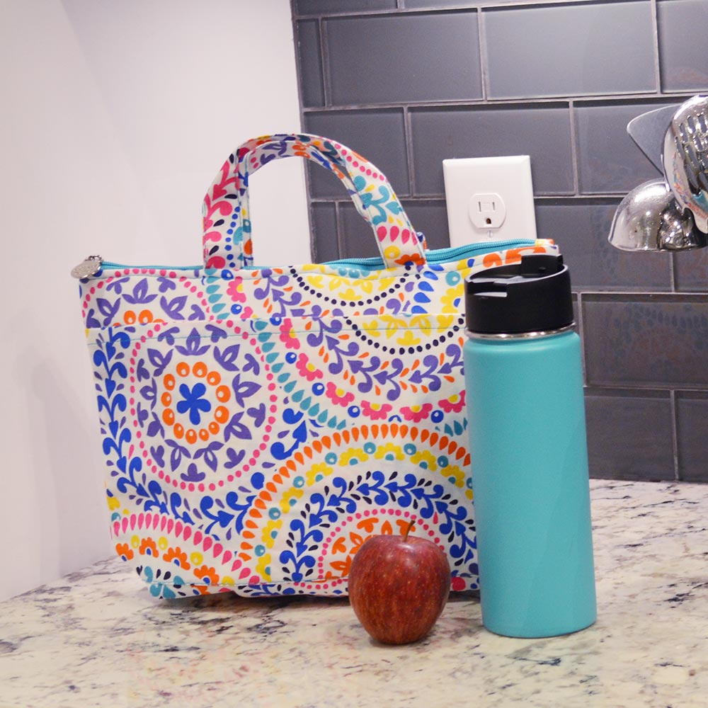 gone spiral lunch tote