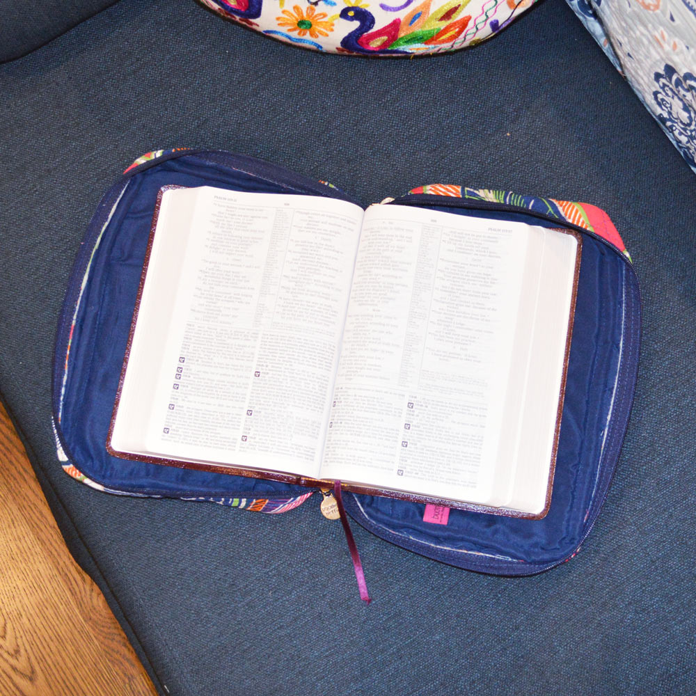 feather or not quilted bible cover