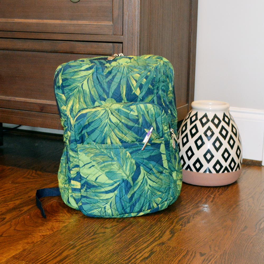 fern quilted backpack