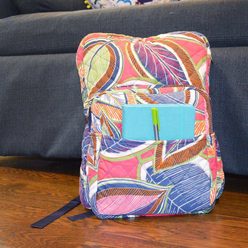 feather or not quilted backpack