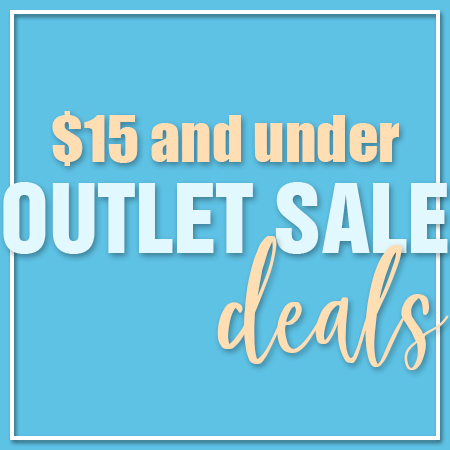 $15 and below outlet sale deals